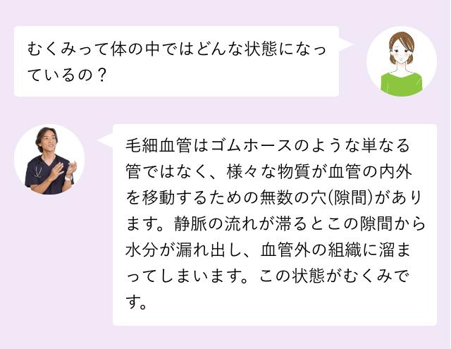 【Q】むくみって体の中ではどんな状態になっているの?